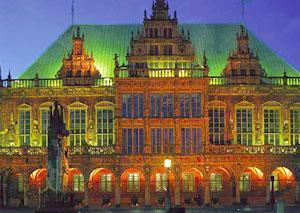 Das Rathaus und Roland in Bremen